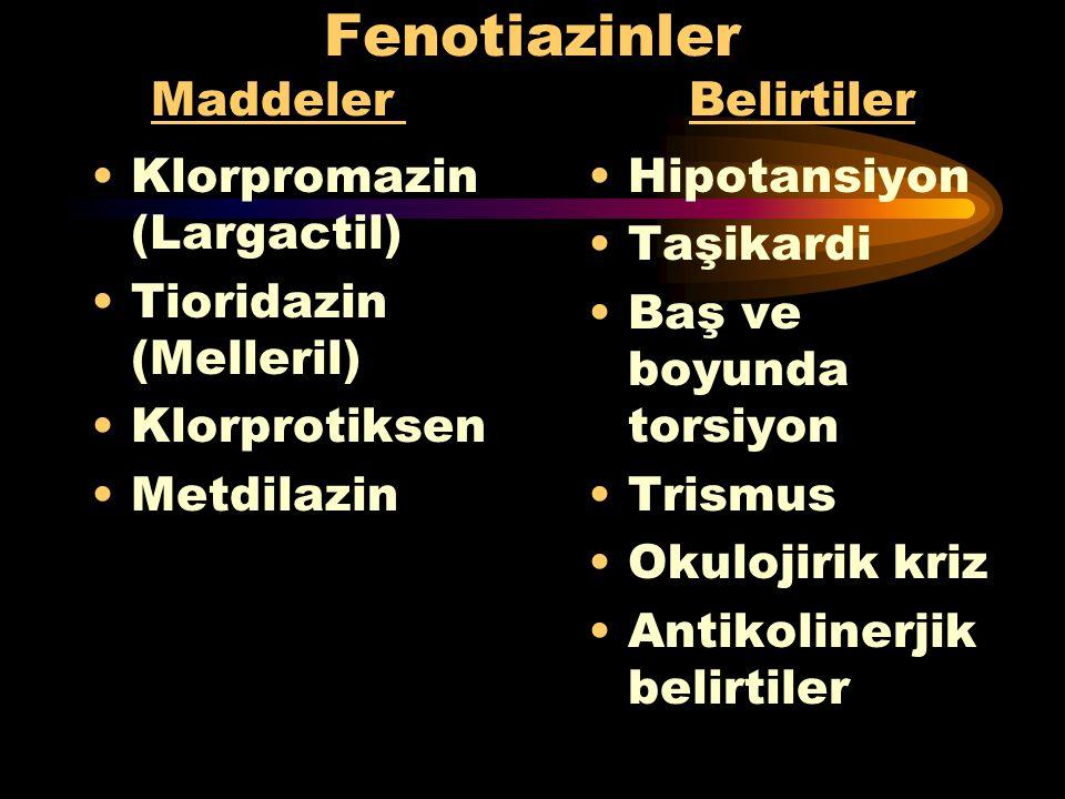 Sempatomimetikler Maddeler Belirtiler Amfetaminler Fenilpropranol -amin Efedrin Kafein Kokain Aminofilin Taşikardi Aritmiler Psikoz Halusinasyon Delir
