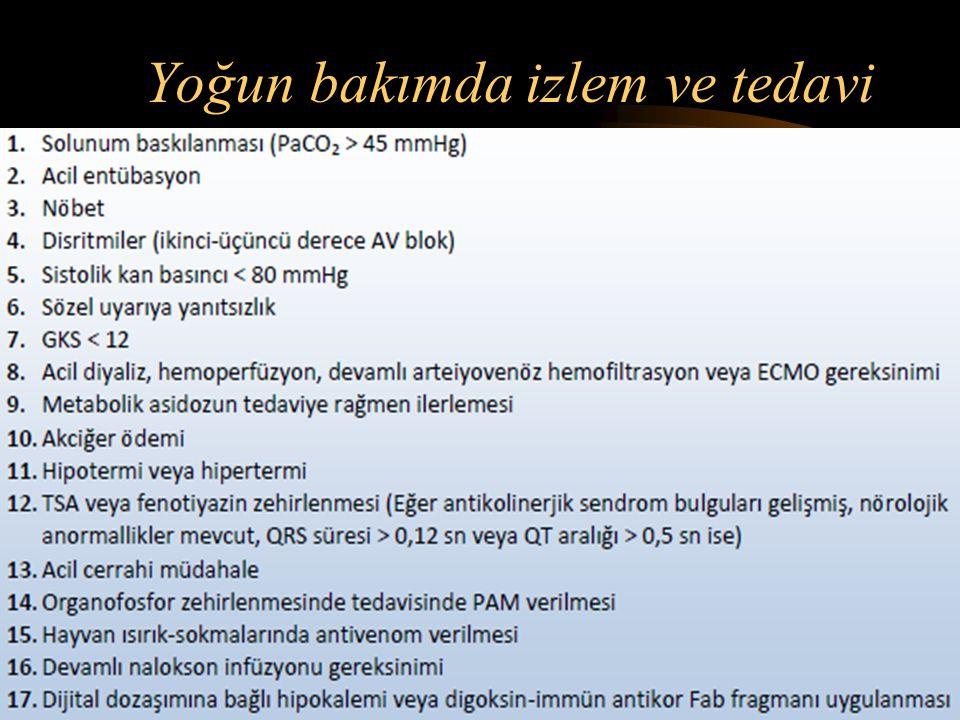 4) Konvulsiyonların tedavisi Bu amaçla benzodiazepinler, barbitüratlar, bazı özel durumlarda ise spesifik ilaçlar kullanılır. (insülin - glukoz, EDTA