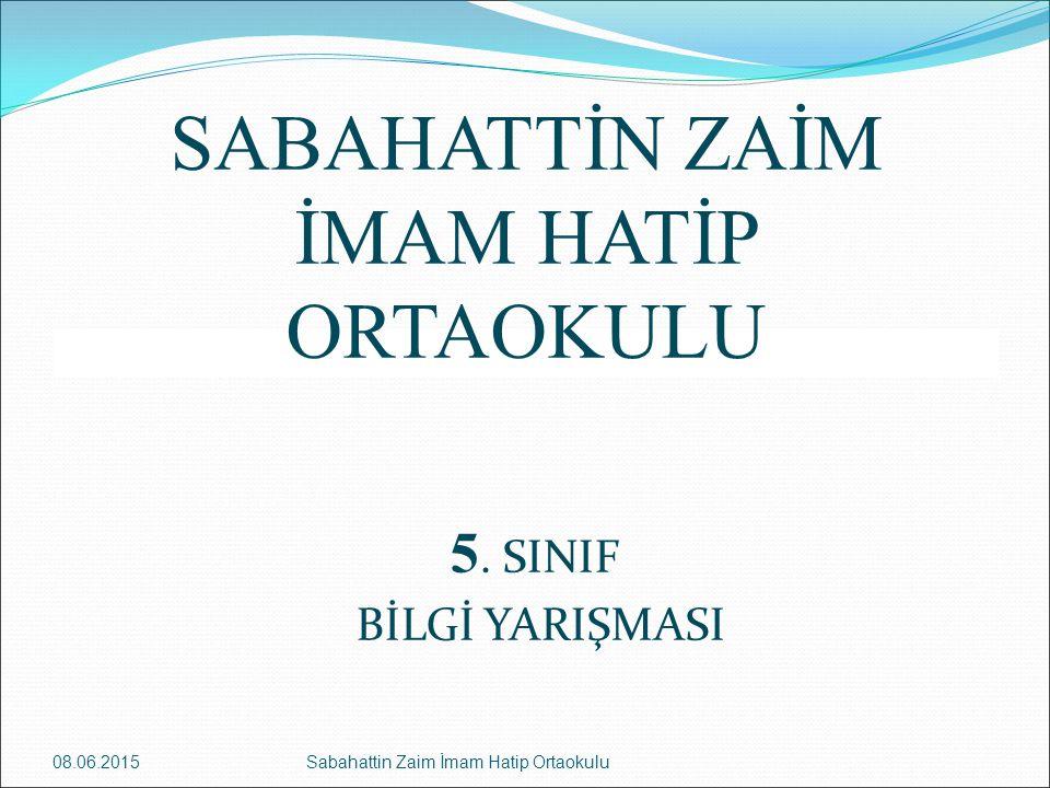 Cevap 1 Sosyal Bilgiler Milliyetçilik 08.06.2015Sabahattin Zaim İmam Hatip Ortaokulu