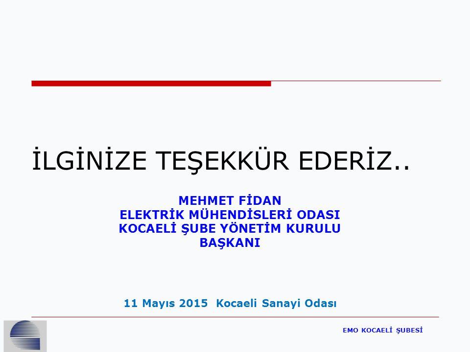 EMO KOCAELİ ŞUBESİ İLGİNİZE TEŞEKKÜR EDERİZ..