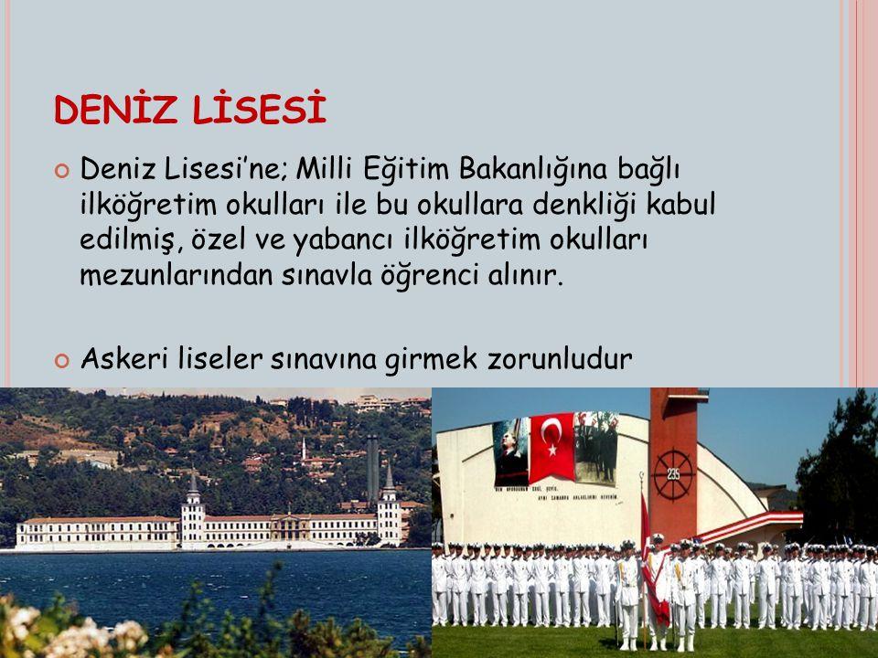 Türkiye de üç tane askeri lise vardır: 1.Kuleli Askeri Lisesi (Çengelköy-İstanbul) 2.