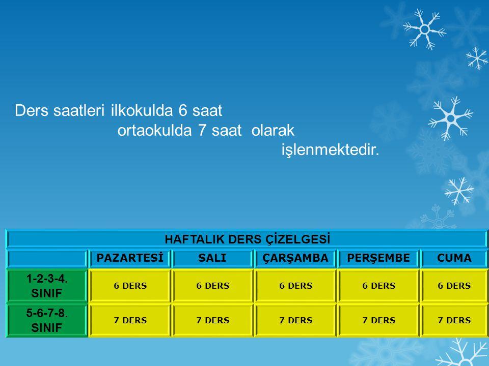 HAFTALIK DERS ÇİZELGESİ PAZARTESİSALIÇARŞAMBAPERŞEMBECUMA 1-2-3-4.