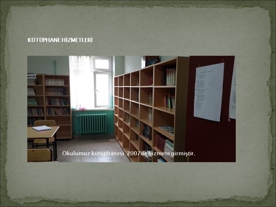 Okulumuz kütüphanesi 2007de hizmete girmiştir. KÜTÜPHANE HİZMETLERİ
