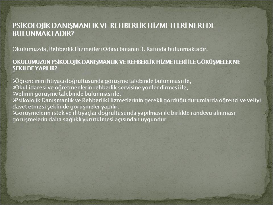 İLETİŞİM BİLGİLERİ : Adres: Mehmet Gürel İlkokulu-Ortaokulu Yeşiltepe M.
