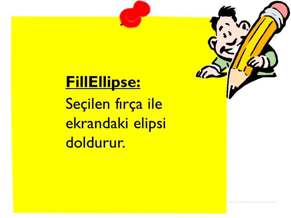 FillEllipse: Seçilen fırça ile ekrandaki elipsi doldurur.
