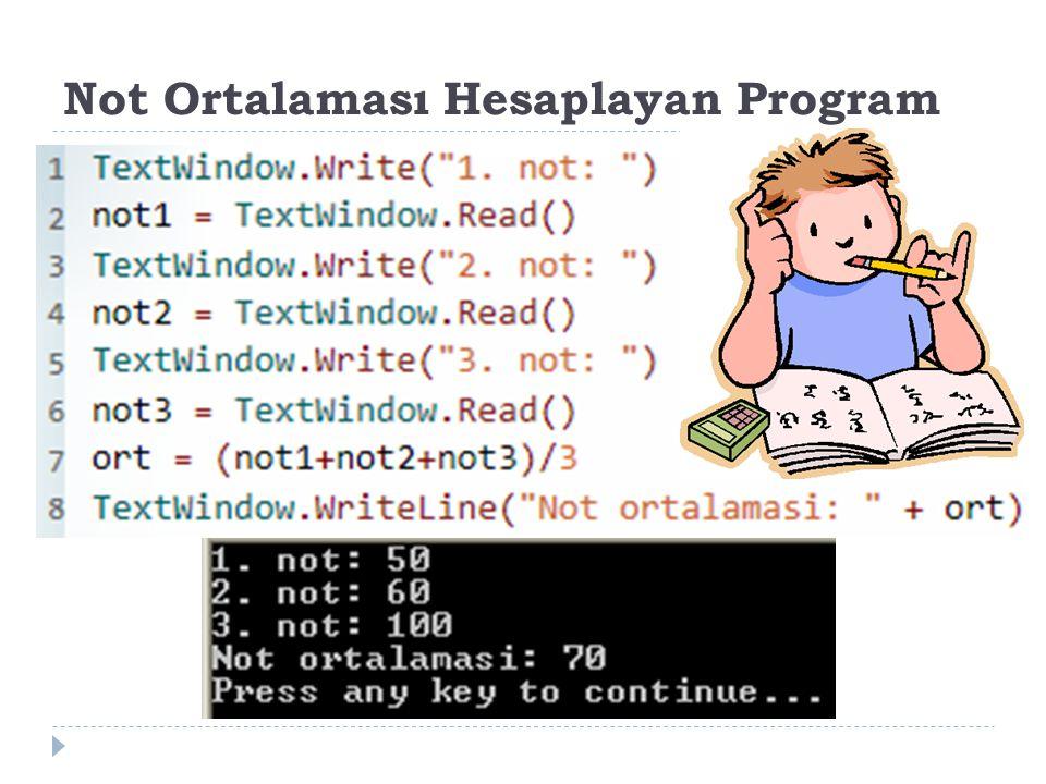 Not Ortalaması Hesaplayan Program