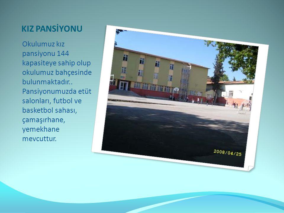 Okulumuz kız pansiyonu 144 kapasiteye sahip olup okulumuz bahçesinde bulunmaktadır..