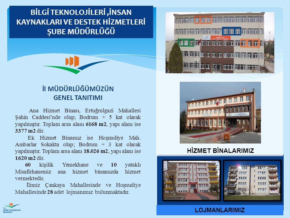 Ana Hizmet Binası, Ertuğrulgazi Mahallesi Şahin Caddesi'nde olup; Bodrum + 5 kat olarak yapılmıştır. Toplam arsa alanı 6168 m2, yapı alanı ise 3377 m2