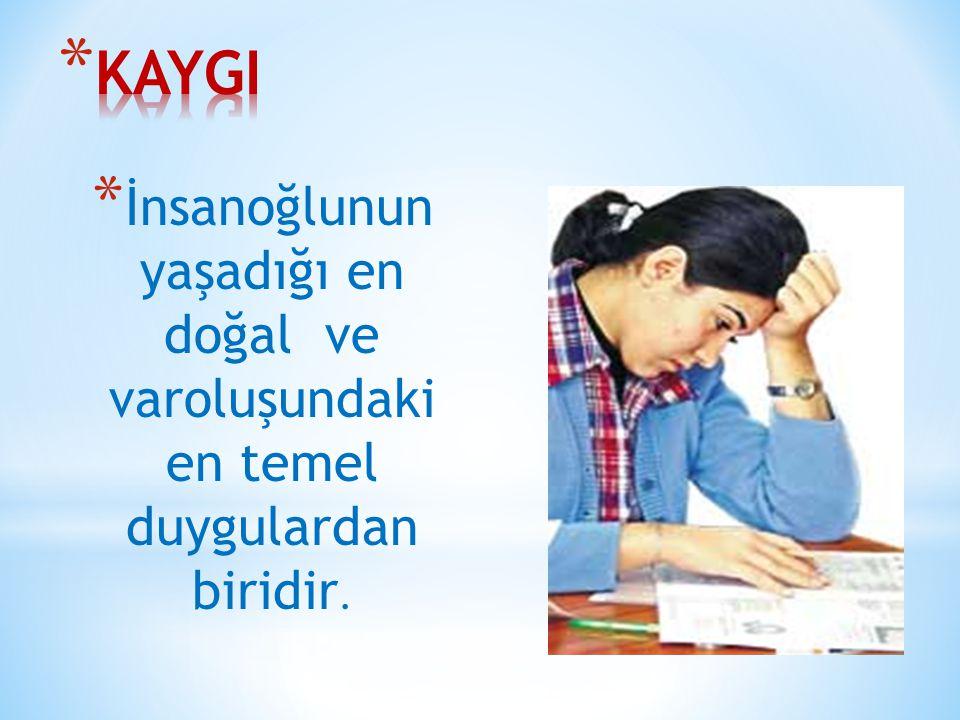 * Sınav kaygısıyla başa çıkma, bedensel, zihinsel ve davranışsal düzeydeki düzenleme çabalarını gerektirir.