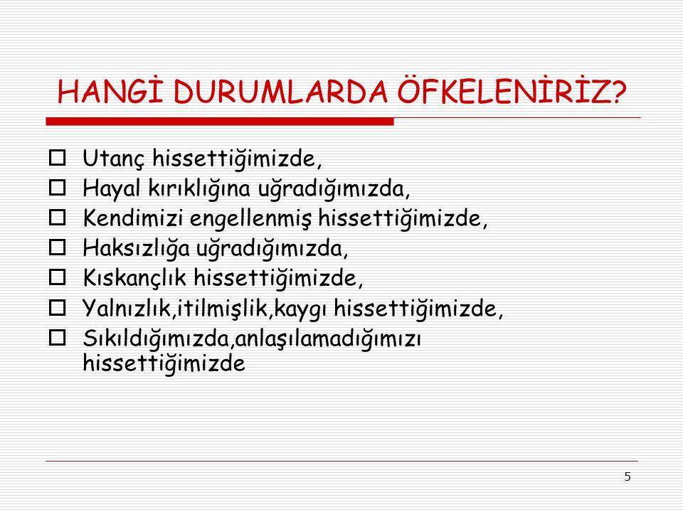 16 ÖFKE UYGUN ŞEKİLDE İFADE EDİLMEDİĞİNDE!!.