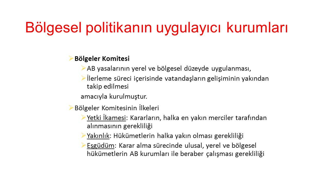 Türkiye'nin bölgesel politikalarının AB'ye uyumu  AB'deki GSYİH, nüfus büyüklüğü ya da yoğunluğu gibi istatistiki kriterlere göre belirlenen bölgeler Türkiye'de coğrafi kriterlere göre belirlenmiştir.