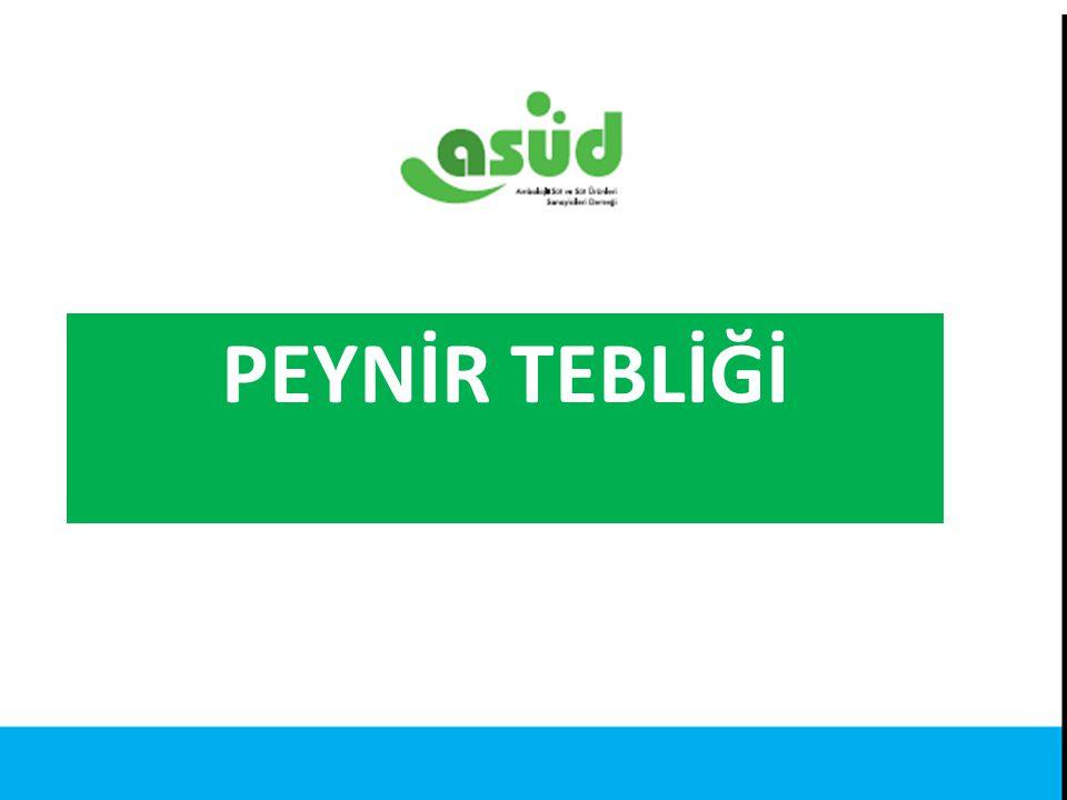Kaynak: Türkiye İstatistik Kurumu PEYNİR TEBLİĞİ
