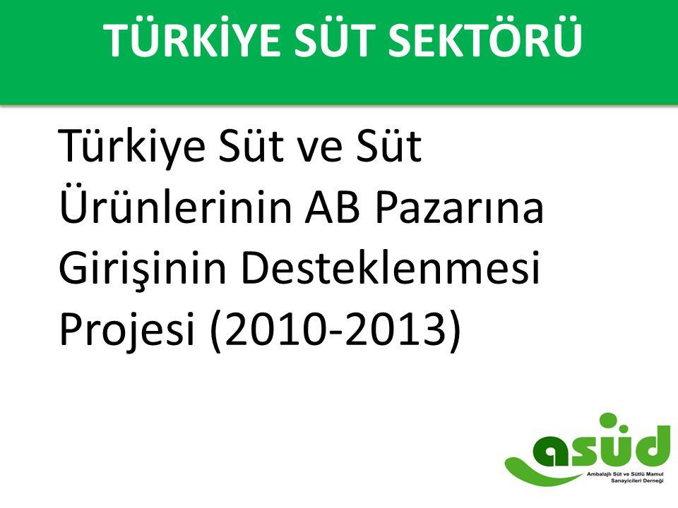 TÜRKİYE'DE SÜT SEKTÖRÜ Türkiye Süt ve Süt Ürünlerinin AB Pazarına Girişinin Desteklenmesi Projesi (2010-2013) TÜRKİYE SÜT SEKTÖRÜ