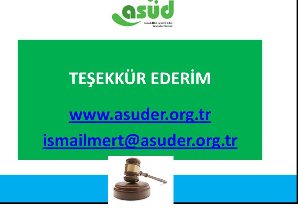 Kaynak: Türkiye İstatistik Kurumu TEŞEKKÜR EDERİM www.asuder.org.tr ismailmert@asuder.org.tr