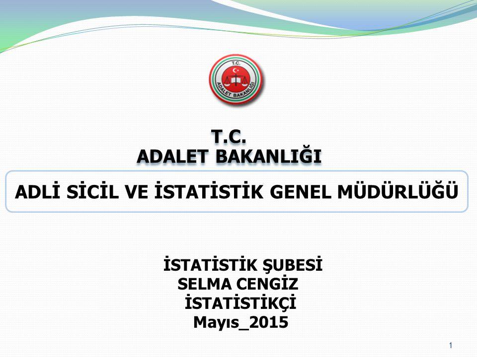 1 İSTATİSTİK ŞUBESİ SELMA CENGİZ İSTATİSTİKÇİ Mayıs_2015 T.C.