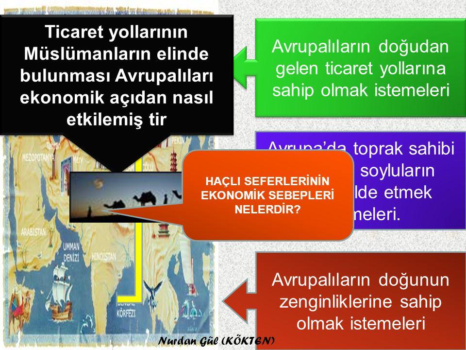 Türkler karşısında zor durumda kalan Bizans İmparatorlu'ğunun Avrupa'dan yardım istemesi Avrupalıların Türkleri Anadolu,Suriye,Filistin ve Akdeniz'den