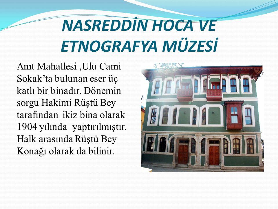 Akşehir eski evlerinin iç mimarisi oldukça zengindir.
