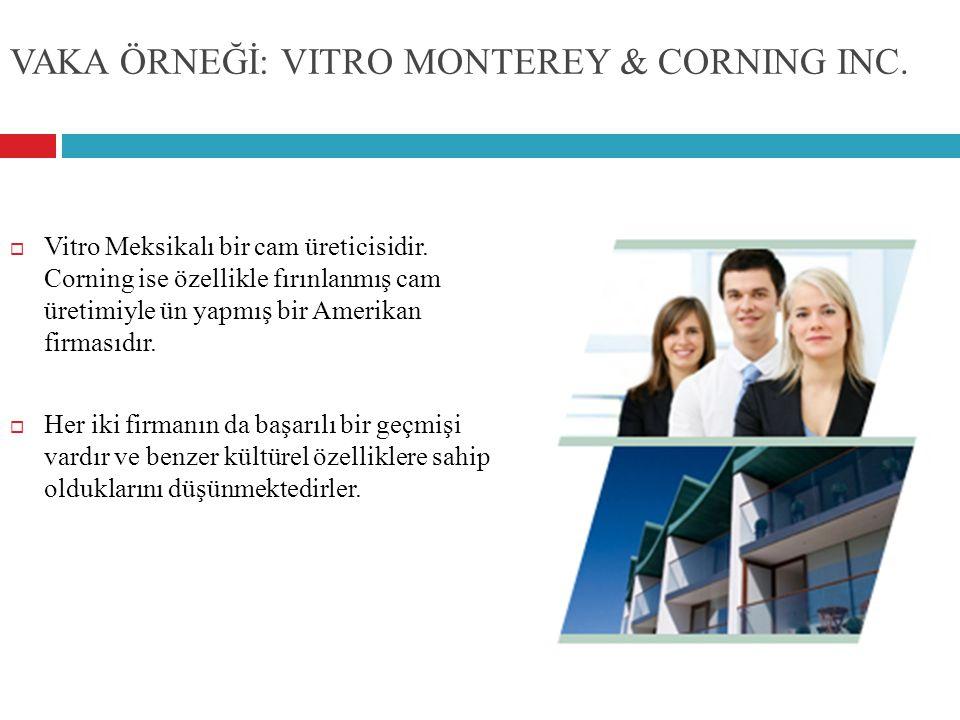VAKA ÖRNEĞİ: VITRO MONTEREY & CORNING INC.  Vitro Meksikalı bir cam üreticisidir. Corning ise özellikle fırınlanmış cam üretimiyle ün yapmış bir Amer