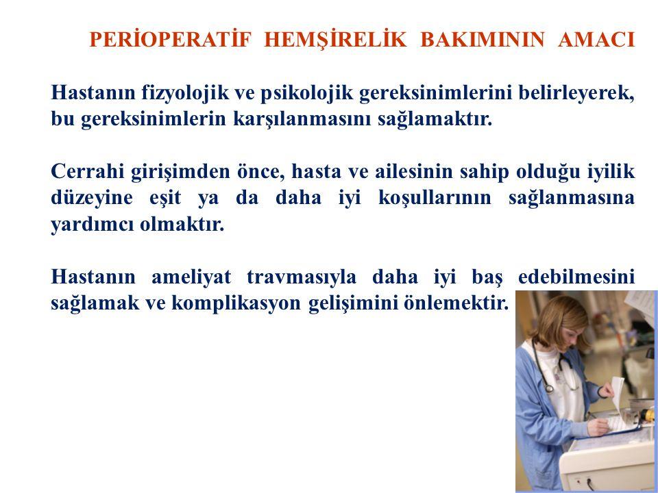 PLANLANMIŞ BİR AMELİYAT İÇİN HAZIRLIK 1.AMELİYAT ÖNCESİ GENEL HAZIRLIK  Psikolojik Hazırlık  Fizyolojik Hazırlık  Ameliyat Öncesi Eğitim  Yasal Hazırlık 2.