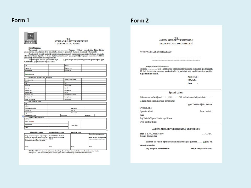 Form 1 Form 2