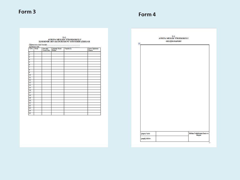 Form 3 Form 4