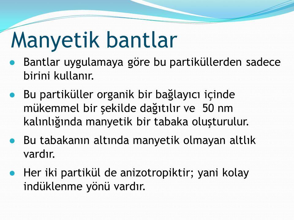 ●Bantlar uygulamaya göre bu partiküllerden sadece birini kullanır. ●Bu partiküller organik bir bağlayıcı içinde mükemmel bir şekilde dağıtılır ve 50 n