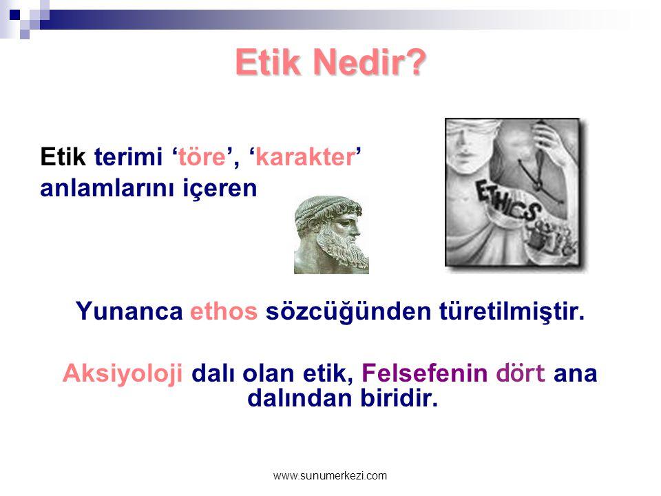 www.sunumerkezi.com Etik Nedir.
