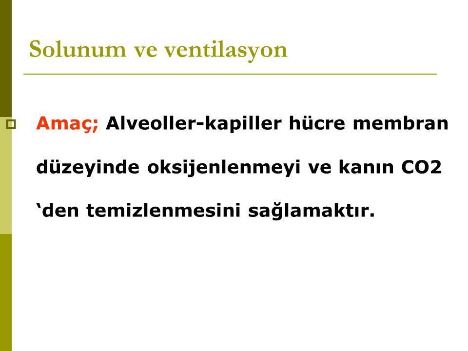 Solunum ve ventilasyon  Hemen hemen tüm politravma hastalarının oksijen gereksinimi vardır.
