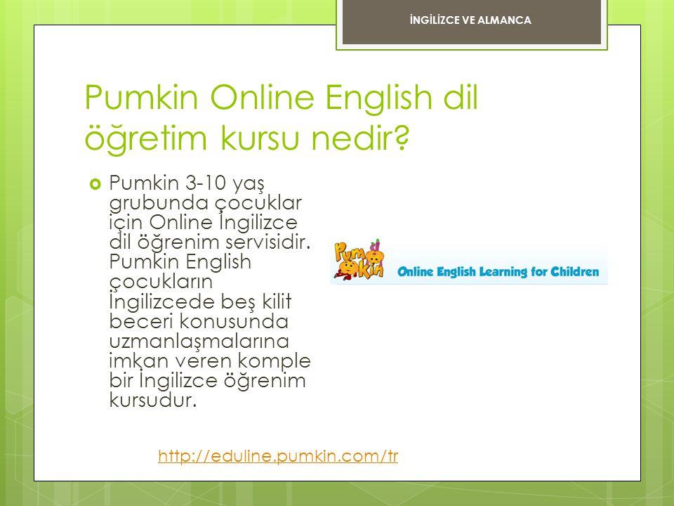 Pumkin Online English dil öğretim kursu nedir?  Pumkin 3-10 yaş grubunda çocuklar için Online İngilizce dil öğrenim servisidir. Pumkin English çocukl
