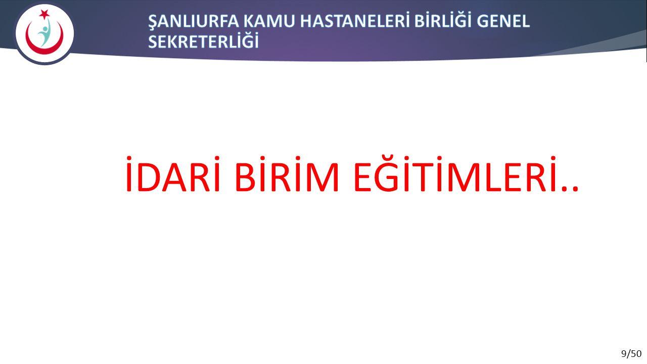9/50 İDARİ BİRİM EĞİTİMLERİ..