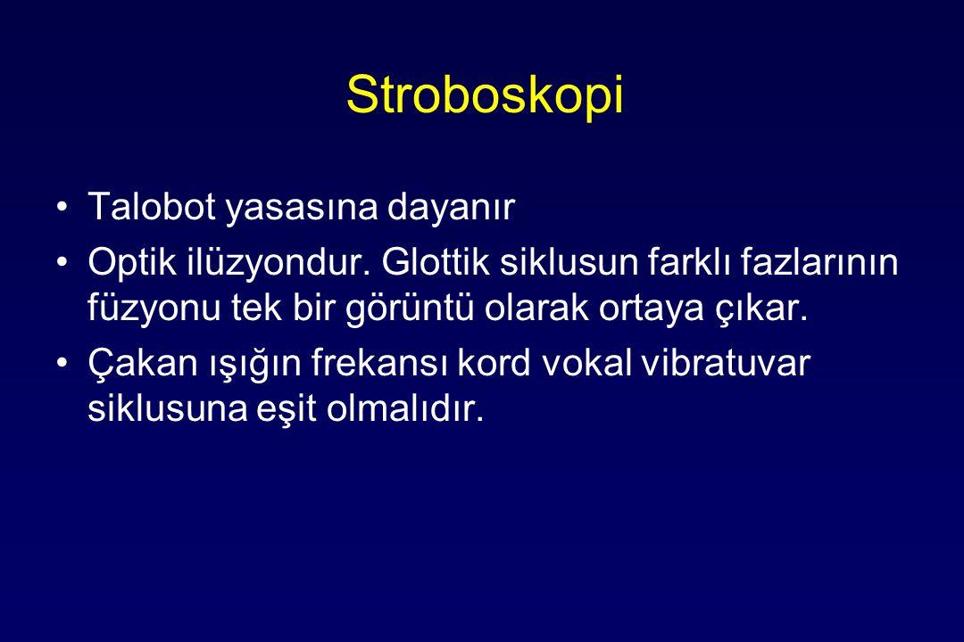 Stroboskopi Talobot yasasına dayanır Optik ilüzyondur.