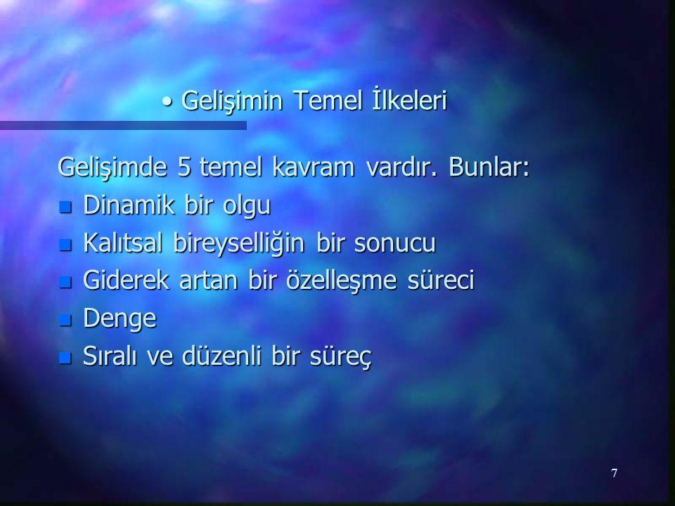 8 Gelişim Evreleri Gelişim Evreleri Doğum Öncesi Dönem Ovum (Döllenme-2.
