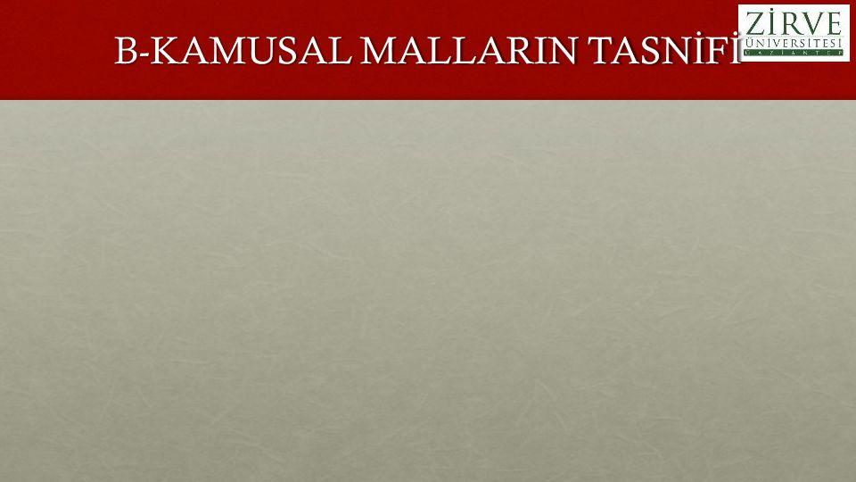 B-KAMUSAL MALLARIN TASN İ F İ