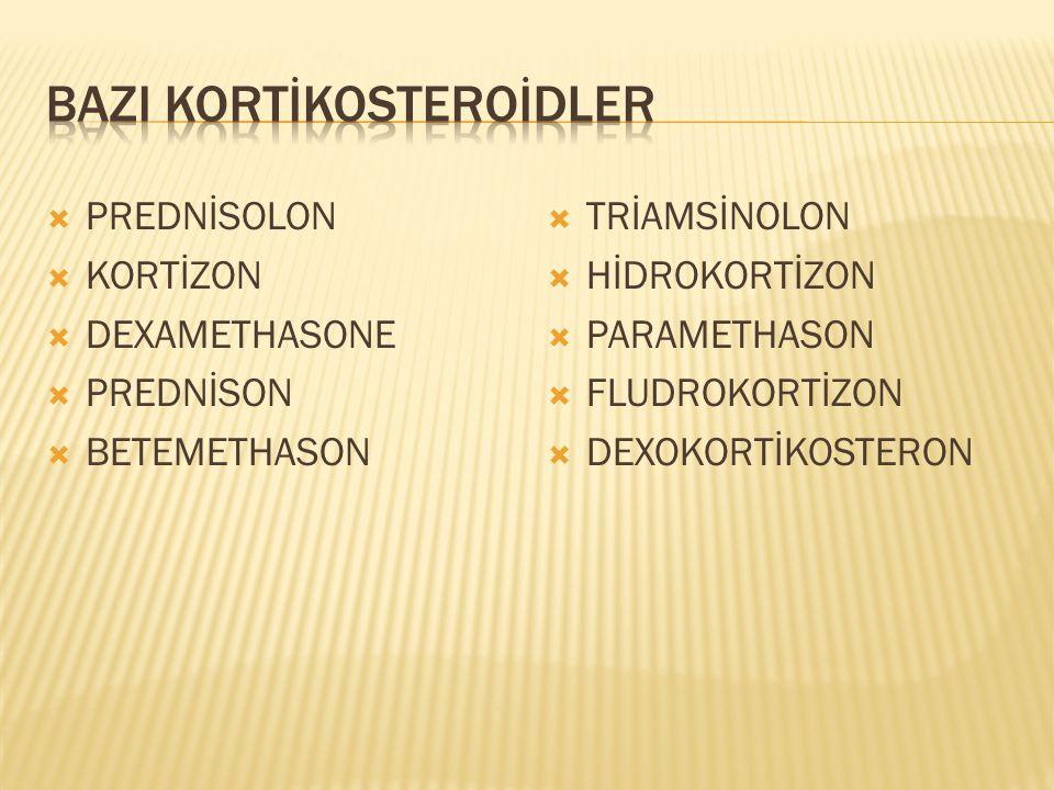  Adrenokortikosteroidler enfeksiyon belirtisini maskeleyebilir.