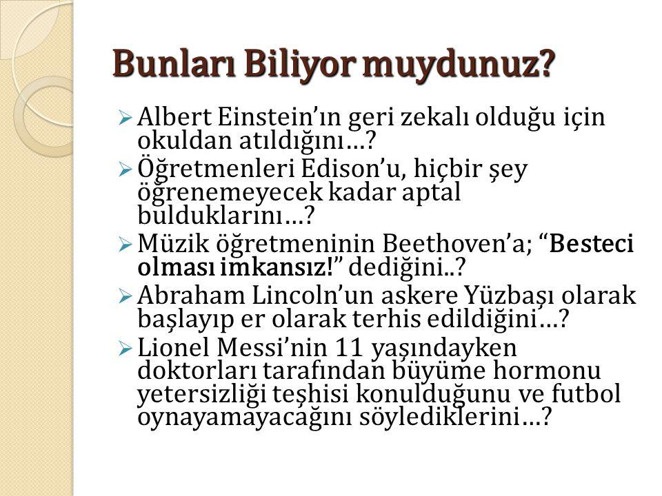 Bunları Biliyor muydunuz.  Albert Einstein'ın geri zekalı olduğu için okuldan atıldığını….