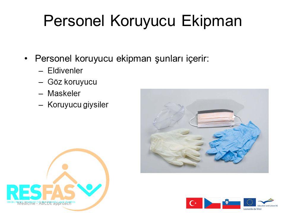 Personel Koruyucu Ekipman Personel koruyucu ekipman şunları içerir: –Eldivenler –Göz koruyucu –Maskeler –Koruyucu giysiler Ensure proper handling/disp