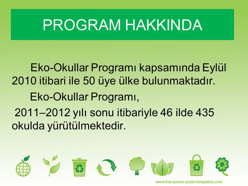 Eko-Okullar Programı kapsamında Eylül 2010 itibari ile 50 üye ülke bulunmaktadır. Eko-Okullar Programı, 2011–2012 yılı sonu itibariyle 46 ilde 435 oku