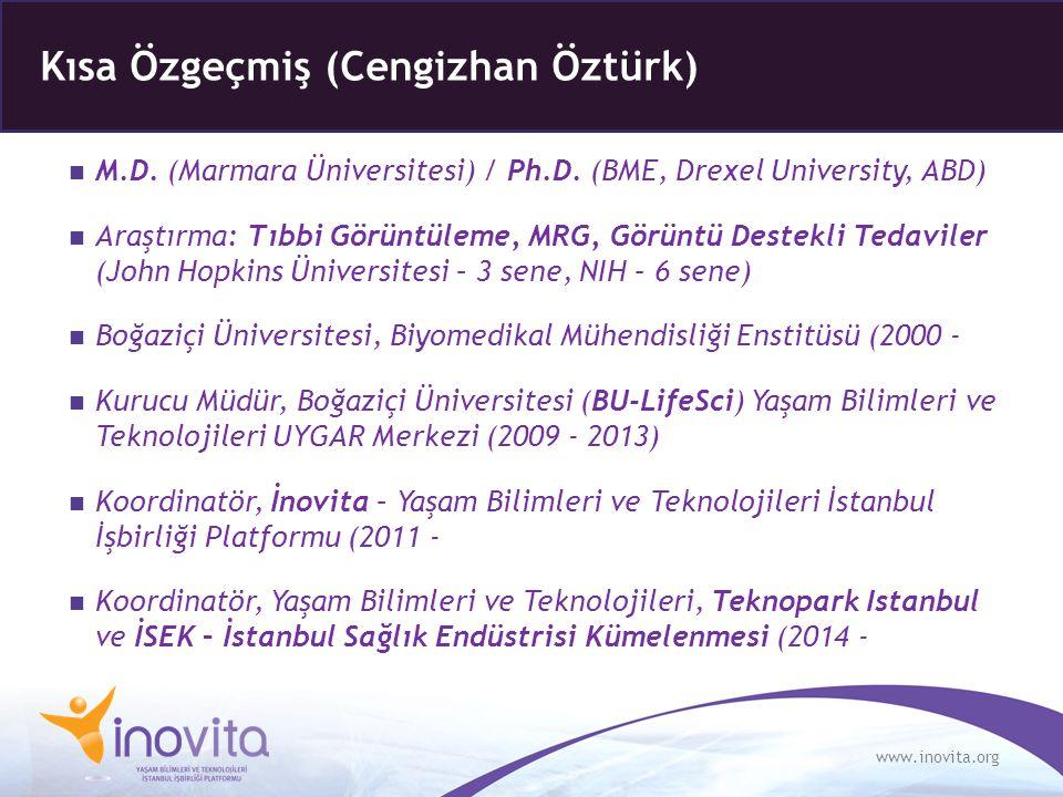 www.inovita.org M.D. (Marmara Üniversitesi) / Ph.D. (BME, Drexel University, ABD) Araştırma: Tıbbi Görüntüleme, MRG, Görüntü Destekli Tedaviler (John