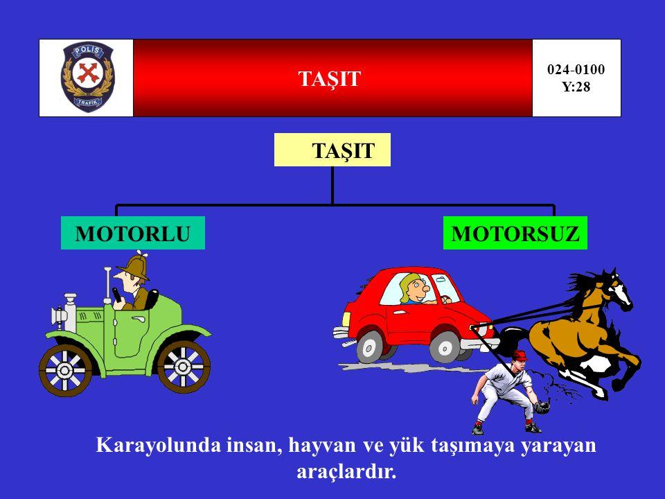 ARAÇ 024-0100 Y:27 ARAÇ MOTORLUMOTORSUZMOTORLU ÖZEL AMAÇLI TAŞIT LTT İŞ MAKİNELERİ
