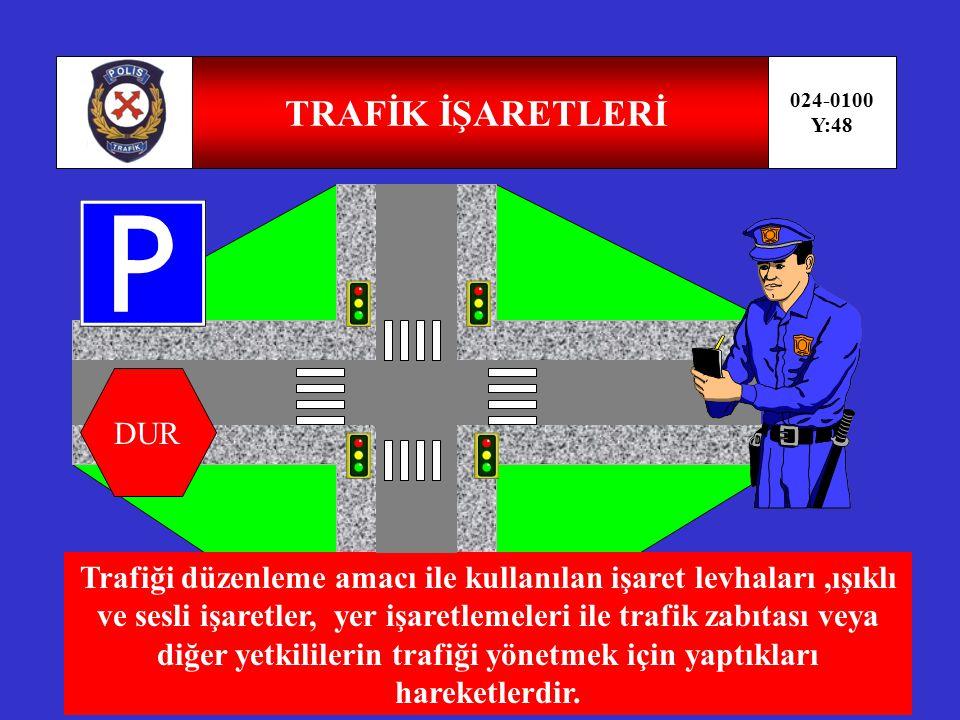AZAMİ TOPLAM AĞIRLIĞI 024-0100 Y:47 AZAMİ Araçların karayolu yapılarında güvenle ve yapıya zarar vermeden geçebilmeleri için saptanan toplam ağırlığıdır.