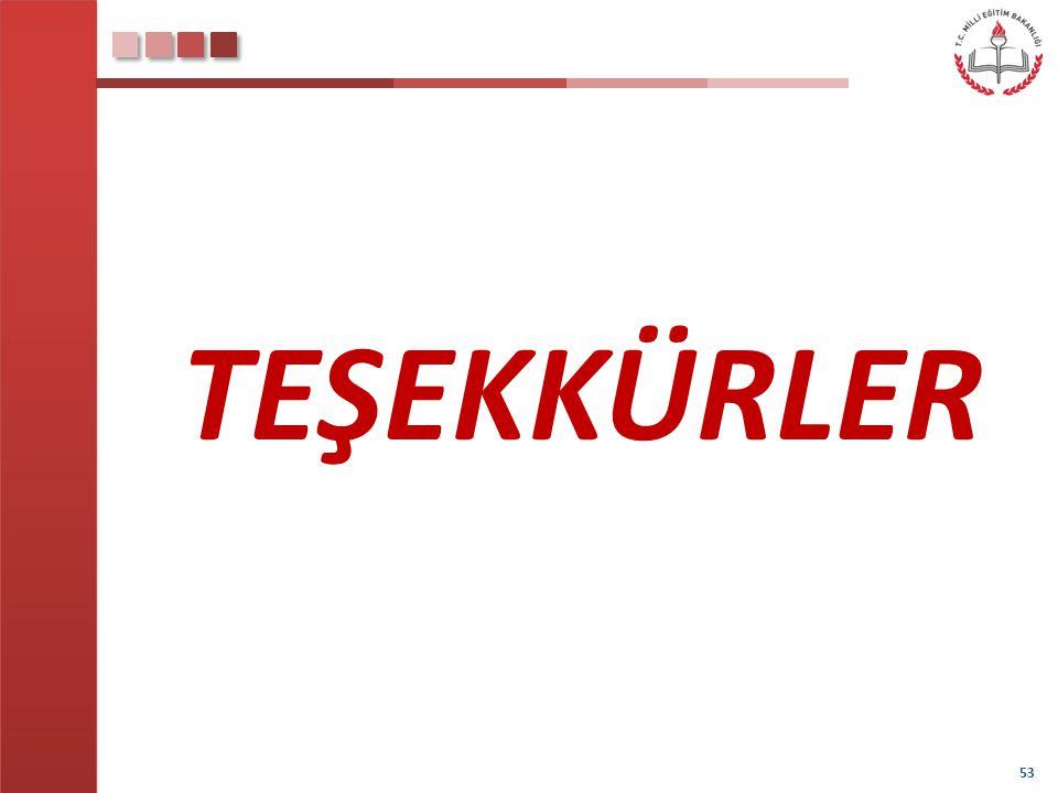 53 TEŞEKKÜRLER