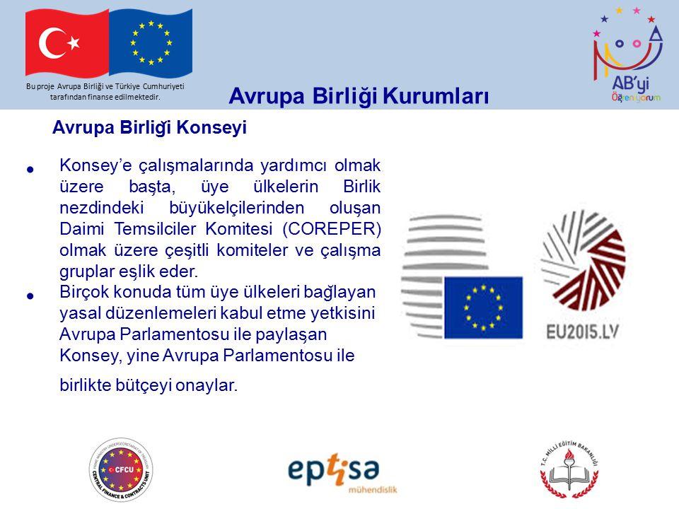Bu proje Avrupa Birliği ve Türkiye Cumhuriyeti tarafından finanse edilmektedir. Avrupa Birliği Kurumları Avrupa Birlig ̆ i Konseyi Konsey'e çalıs ̧ ma