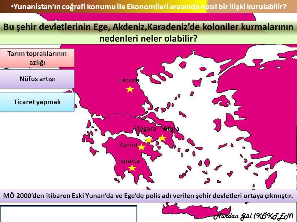 Yunanistan'ın coğrafi konumu ile Ekonomileri arasında nasıl bir ilişki kurulabilir? MÖ 2000'den itibaren Eski Yunan'da ve Ege'de polis adı verilen şeh