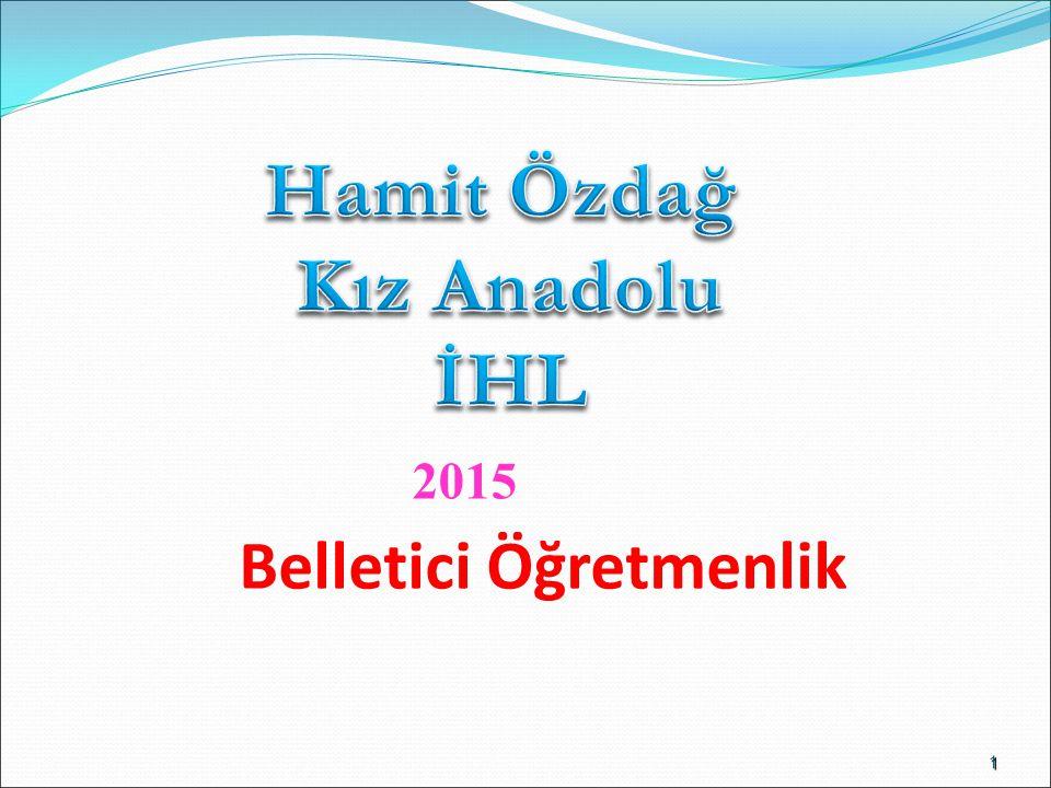 1 Belletici Öğretmenlik 2015