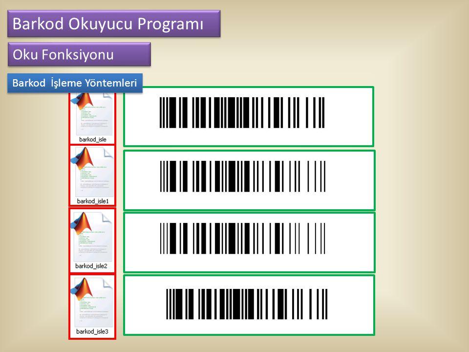 Barkod Okuyucu Programı Oku Fonksiyonu Barkod İşleme Yöntemleri