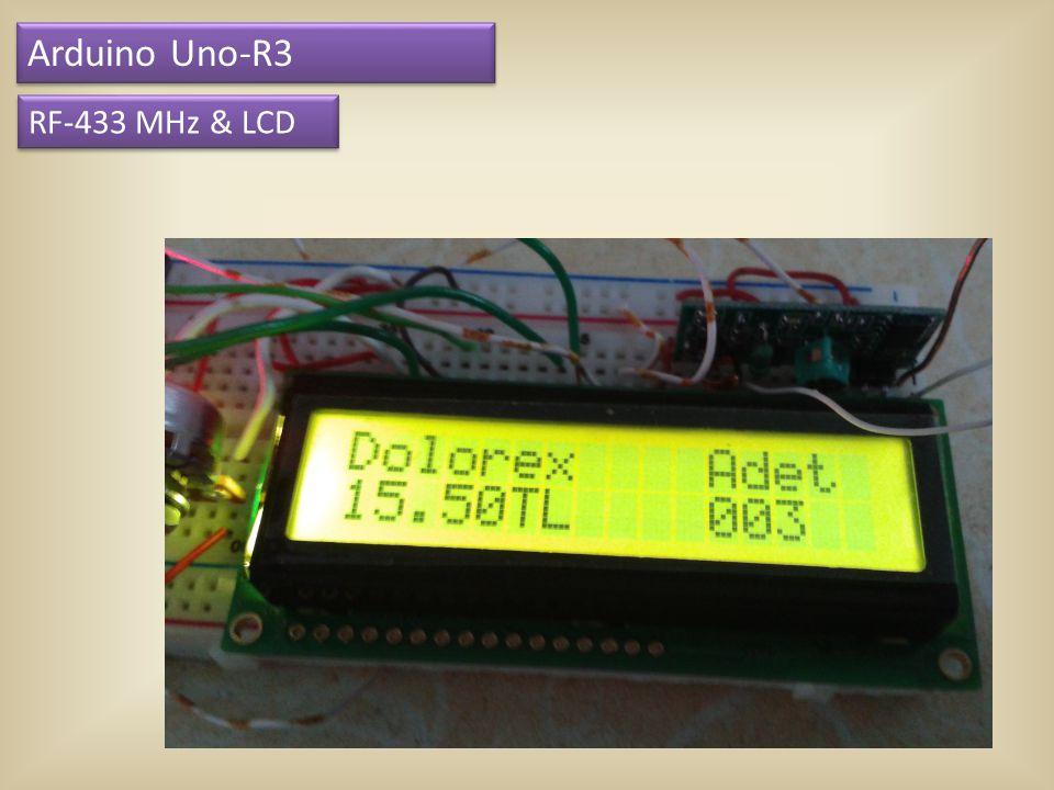 Arduino Uno-R3 RF-433 MHz & LCD