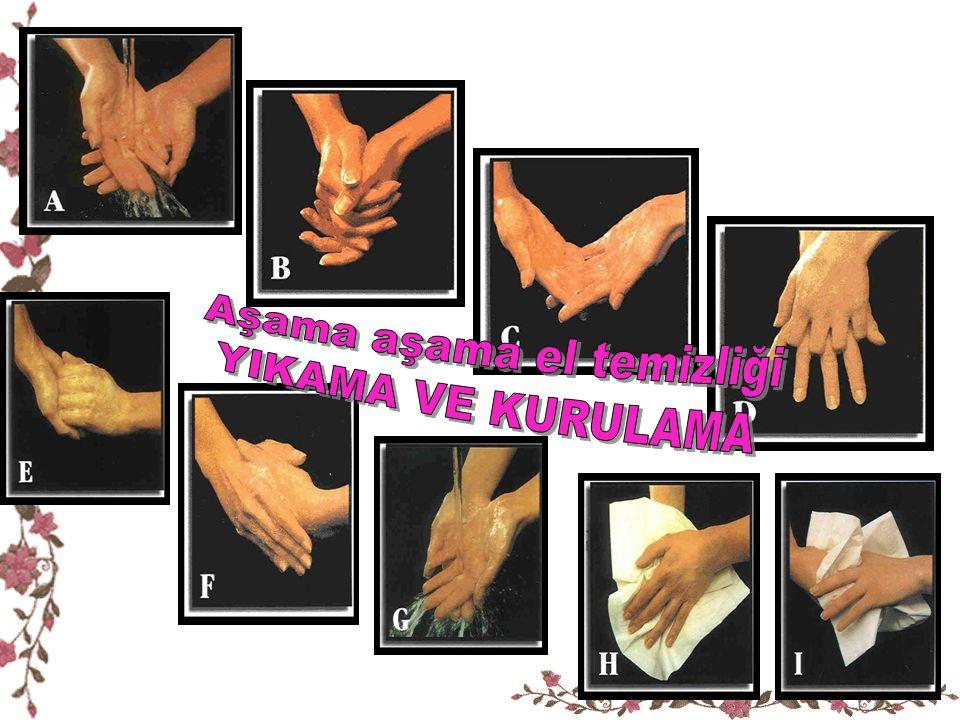 TIRNAK BAKIMI Haftada bir kez el ve ayak tırnakları kısa ve yuvarlak şekilde kesilmelidir.