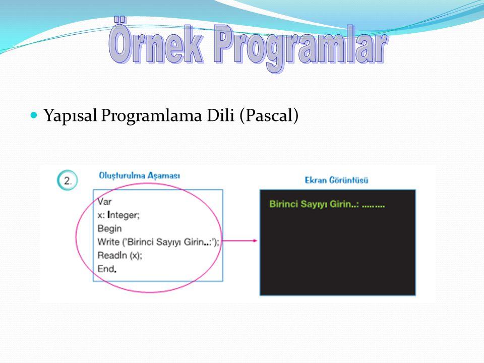 Yapısal Programlama Dili (Pascal)