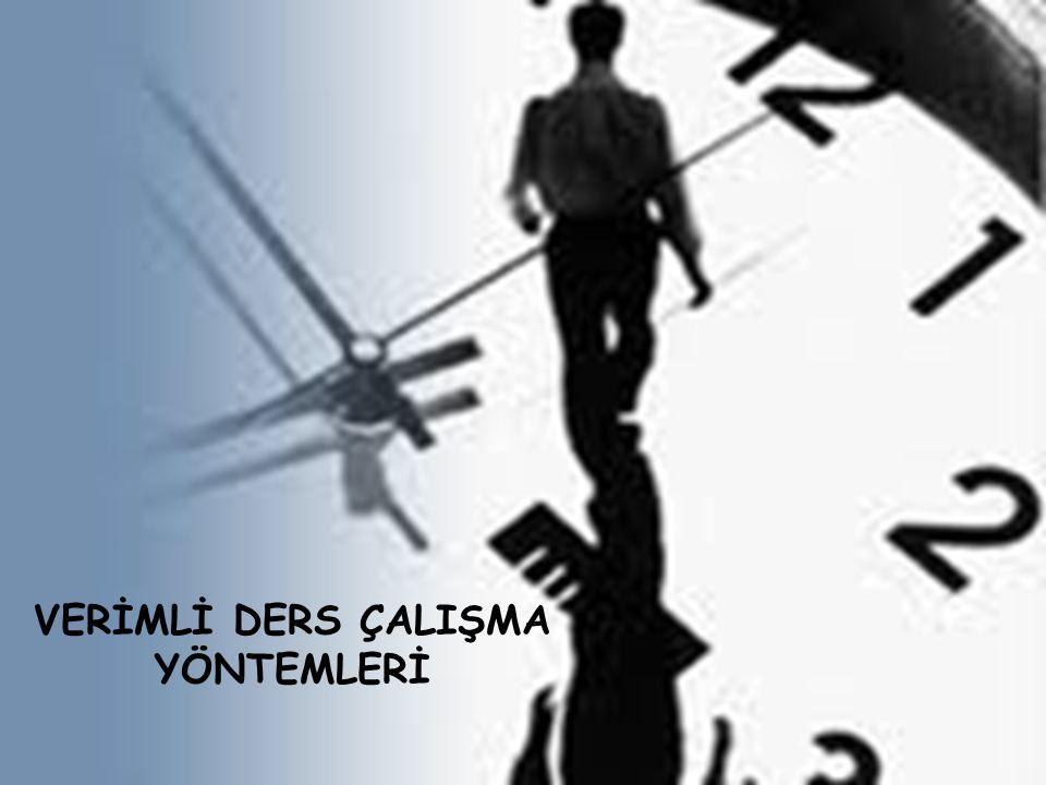 DENİZLİ REHBERLİK VE ARAŞTIRMA MERKEZİ 2012 VERİMLİ DERS ÇALIŞMA YÖNTEMLERİ