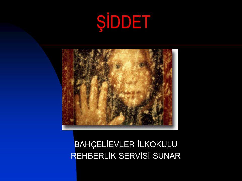 ŞİDDET BAHÇELİEVLER İLKOKULU REHBERLİK SERVİSİ SUNAR